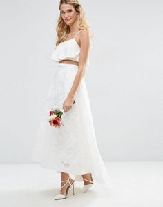 ASOS BRIDAL Full lace Prom Skirt