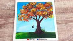 Autumn Tree Acrylic Painting for Beginners   Joy of Art #179 Tree Painting Easy, Beginner Art, Acrylic Painting For Beginners, Autumn Trees, Painting & Drawing, Arts And Crafts, Drawings, Fall Trees, Sketches