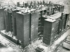 The demolition and disassembling Frank Lloyd Wright's Larking Administration Building in 1950.