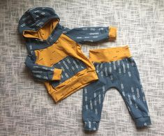NB-3T Baby Boy Coming Home Outfit. Baby Boys Hoodie and Pants. Fall outfit. Toddler boy outfit. Thanksgiving outfit. Mustard yellow. Blue. Sweatshirt and pants. Little Moon Bowtique on Etsy