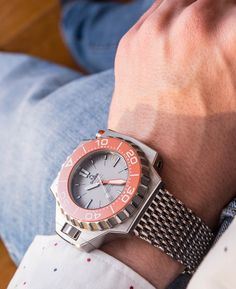 """Omega Seamaster Ploprof 1200M Co-Axial Master Chronometer 2016 Watch Review - by David Bredan - More on this bold 1200M-rated piece now at: aBlogtoWatch.com - """"First produced in 1970 and later relaunched in 2009, the Omega Seamaster Ploprof 1200M Co-Axial Master Chronometer – as it is today called – is one of the world's most unique and, yes, iconic dive watches. It quite remains the Quasimodo character today, even among professional dive watches..."""""""