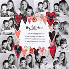 Make a Border of Photos for Valentine Scrapbook Pages