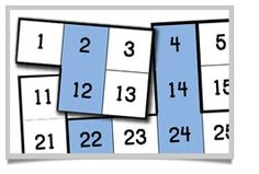 Not a new idea - but a great idea. 100 square maths jigsaws, perfect for supporting young learners understanding of the number system.
