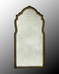 John Richard Large eglomise mantle mirror. also avail in small. 48 x 95