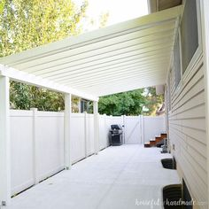 Build a patio pergola attached to the house to extend your living space to the yard. A DIY pergola creates a room outside for entertaining and gathering. rooms attached to house Build a Patio Pergola attached to the House Diy Pergola, Pergola Canopy, Pergola Swing, Outdoor Pergola, Pergola Lighting, Wooden Pergola, Pergola Shade, Outdoor Decor, Gardens