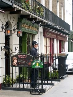 At the Sherlock Holmes Museum, I'll sit in Sherlock's, chair by the fireplace, and use the props for photo opportunities... Elementary my dear Watson.