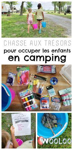 Voici comment j'ai occupé mes filles toute la semaine avec une chasse au trésors en camping! #camping #activités #enfant #chasseautrésor