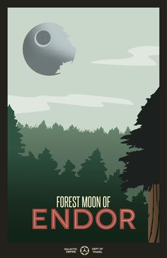 Travel posters from a galaxy far, far away... by Todd Anderson, via Behance