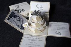 3.5 Cake Exploding Box Wedding Invitation by EdinburghInvites