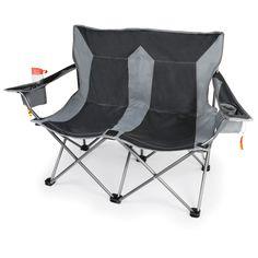 The Outdoor Folding Loveseat - Hammacher Schlemmer