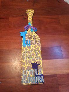 Giraffe paddle my little made me! #giraffe #sorority #crafts #paddle