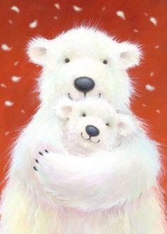 Florynda del Sol ღ☀¨✿ ¸.ღ ♥Alison Edgson♥ Anche gli Orsetti hanno un'anima…♥ Animals And Pets, Baby Animals, Cute Animals, Bear Art, Winter Art, Cute Bears, Cute Illustration, Cute Cartoon, Illustrations