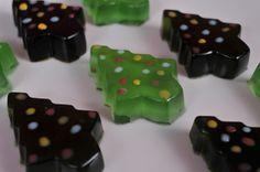 O Tannenbaums- margarita jello shots with teeny tiny decorations