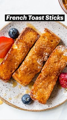 Oven Baked French Toast, French Toast Sticks, Fun Baking Recipes, Baby Food Recipes, Whole Food Recipes, Delicious Breakfast Recipes, Brunch Recipes, Homemade French Toast, Comidas Fitness