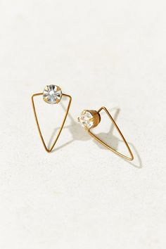 Diament Jewelry X Urban Renewal Crystal Wire Triangle Stud Earring