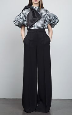 Puff Sleeves Bow Shirt by DICE KAYEK for Preorder on Moda Operandi