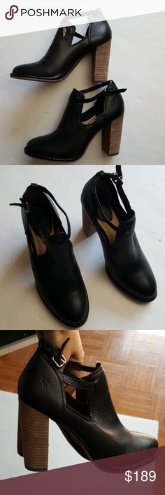 FRYE black leather ankle booties US7  New without box Frye Shoes Ankle Boots & Booties