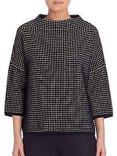 Max Mara - Textured Three-Fourth Sleeves Sweater Japan Fashion, Love Fashion, Fashion Outfits, Womens Fashion, Mode Top, Clothing Patterns, Capsule Wardrobe, Blouse Designs, Beautiful Outfits