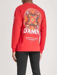 3baeed8d9 TDE Kendrick Lamar DAMN. Official Merch Kung-Fu Kenny cotton-jersey top