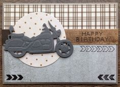 card bike biker motorcycle Marianne design die transportation journey ride life travel adventure - LindaCrea