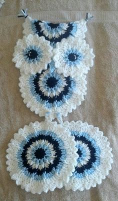 Crochet Pink Owl Potholder Holder Pattern Only by 3ThreadinBettys