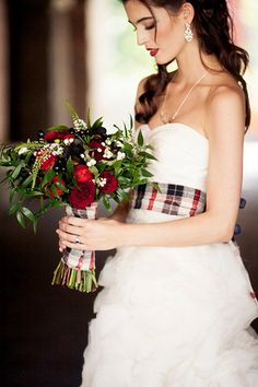 Christmas Bride - Photo by Sachin Khona Photographer, Styled by Filosophi Event Planning, via Wed Over Heels
