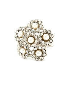 Pearl Flower Cocktail Ring: Charlotte Russe Valley West Mall for the Holidays!