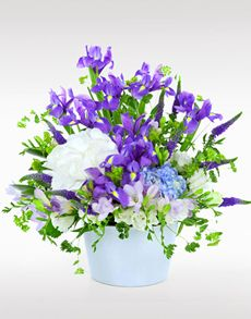 Gift Ideas - Easter Flowers: Flower Vase - Hydrangea and Irises! Easter Flowers, Mothers Day Flowers, Flower Vases, Flower Arrangements, Flowers Singapore, Order Flowers Online, Irises, Amazing Flowers, Hydrangea