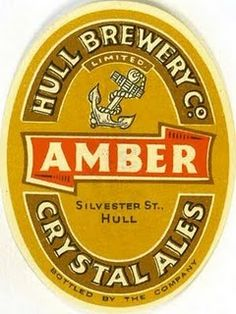 Labels Amber Crystal Ales Hull Brewery Co. Kingston upon Hull East Riding of Yorkshire England