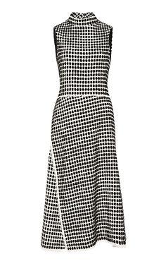 Velvet Tweed Sleeveless Wrap Dress by PROENZA SCHOULER for Preorder on Moda Operandi