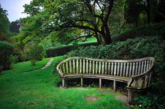 Dumbarton Oaks.  Great bench for a quiet conversation.