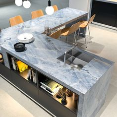 Allure Natural Stone huge selection of granite , quartz , quartzite, marble and porcelain countertops. Blue Countertops, Quartzite Countertops, Calacatta Quartzite, Kitchen Countertops, Condo Design, House Design, Small Kitchenette, Dream House Interior, Living Room Grey