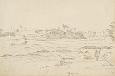 FLORENCE, Hercule - Pyrapóra [Desenho do Carnet de dessins] - [1826] - Nanquim e grafite sobre papel - 19,3 x 24,7 cm - Coleção Bibliothèque Nationale de France (Paris)