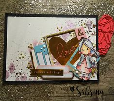 Card - Stamps Card Maker: Sweet Girl Ellie with Poinsettia DT Swedish House ...