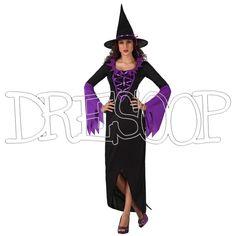 Disfraz Bruja Lila para mujer - Dresoop.es