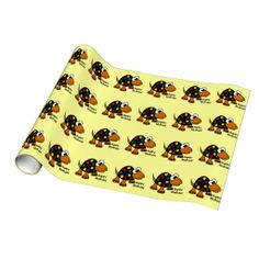 Funny Turtle Happy Birthday Gift Wrap Paper #turtles #funny #animals #birthday #happy #wrapping #paper And www.zazzle.com/tickleyourfunnybone*