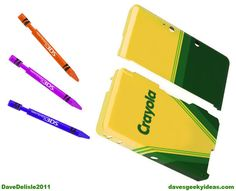 3DS Crayons Stylus Case Nintendo Crayola 2011 davesgeekyideas-- awesome for iphone
