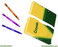 Crayola Nintendo 3DS case & crayon styluses WANT