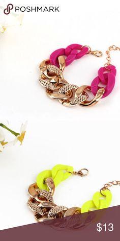 Chunky Bracelet Fashion Chunky Bracelet. Materials: acrylic and alloy. ❌ No offers ❌No trades Jewelry Bracelets
