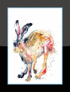 Printed to a high standard using the latest Epson Ink technology that's made to last. Epson Ink, Hare, Fine Art Prints, Moose Art, Animals, Animales, Animaux, Bunny, Art Prints