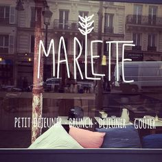 Marlette. Paris. Brunch, lunch, coffee and more!
