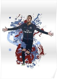 Neymar - PSG Artwork Slim Fit T-Shirt Football Art, [alt_image] Soccer Art, Football Art, Fifa 2017, Neymar Psg, Neymar Brazil, Lionel Messi Wallpapers, Soccer Photography, Afrique Art, Football Wallpaper
