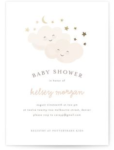 """twinkling"" - Customizable Foil-pressed Baby Shower Invitations in Gold or Pink by Angela Garrick. - Foil-Pressed Baby Shower Invitations by Minted Baby Shower Activities, Baby Shower Themes, Baby Shower Invites For Girl, Shower Ideas, Baby Shower Cards, Shower Baby, Baby Invitations, Babyshower Invites, Baby Shower Invitaciones"