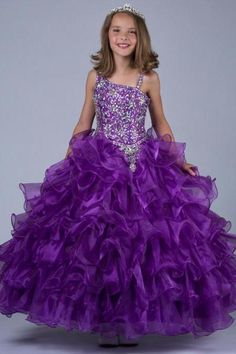 8d7ae7e47 Custom Flower Girl Dresses Princess Kids Pageant Party Gown Ball ...