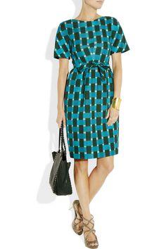 Jonathan Saunders|Evelyn printed cotton-blend dress|NET-A-PORTER.COM