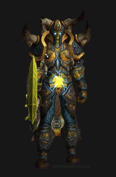 Unholy Death Knight Apocalypse Transmog Set - Herald of Pestilence Skin with Yellow Tint Transmog. World of Warcraft Legion.