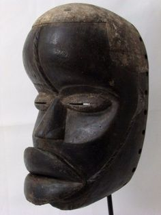 Auction ends in 2 hours, come and place your bid for this Fine mask. African Mask Bete Face Mask Tribal Mask Collectible African Art Antique