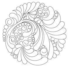 Shop | Category: Compass or Circle patterns | Product: Feathers and pearls 11 circle