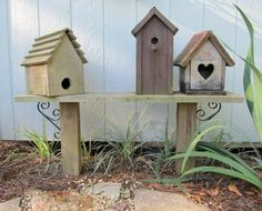 bird house bench