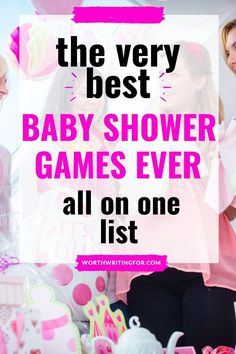 Need baby shower game ideas? This is the ultimate guide to the best baby shower games no matter what type of shower you're throwing! From hilarious baby shower games to simple classics and free baby shower games printables this list has them all. Choose the best baby shower games here! #babyshowergames Free Baby Shower Games, Baby Shower Fun, Baby Shower Themes, Baby Showers, Shower Ideas, Free Baby Stuff, Cool Baby Stuff, Baby Shower Printables, Baby Shower Invitations